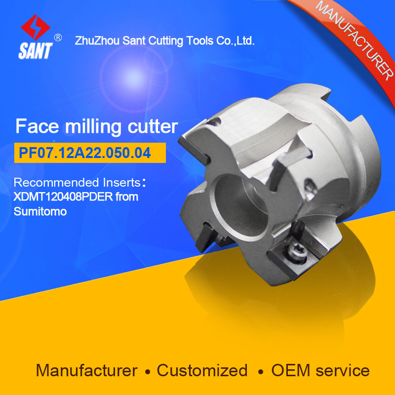 Milling tools Indexable milling cutter Match insert SOMT12T308PEER from Mitsubishi Face cutter cutting disc PF07.12A22.050.04 peer gynt