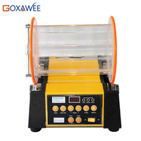 GOXAWEE Jewelry Polishing Finishing Machine 8KG Capacity Rotary Rock Polishing Tumbling Machine Variable Speed 220V 50/60HZ