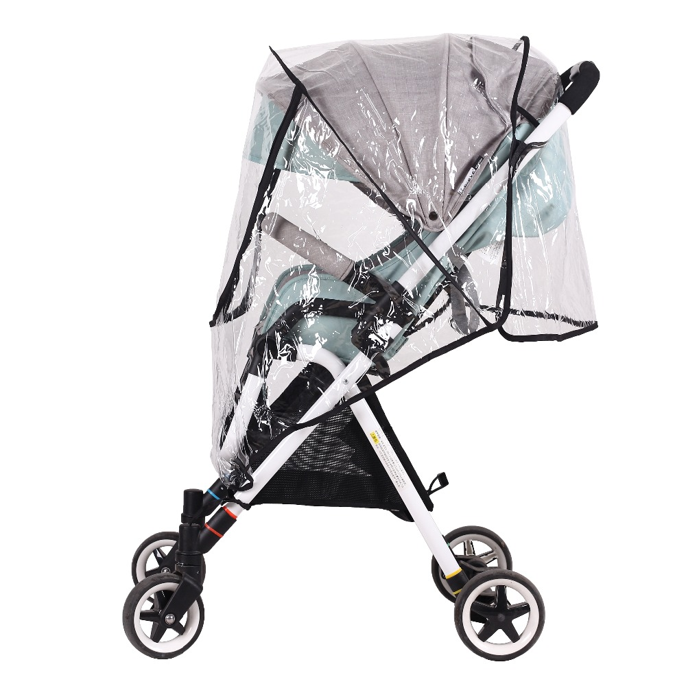 with Folder Bag Rain Cover Universal Raincover for Baby Pushchair Stroller Cover Pram Waterproof Black