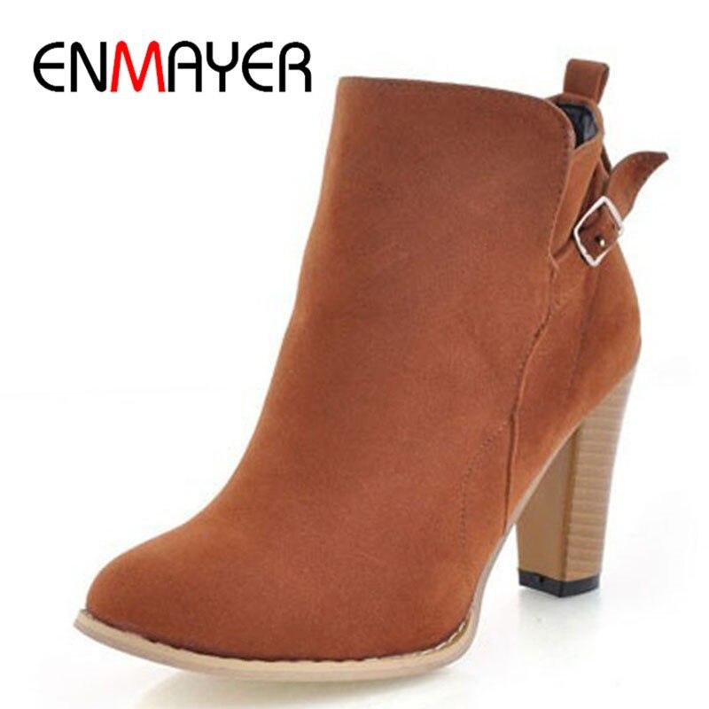 Zapatos Mujer Nuevo Botines con punta redonda para mujer Nuevo 2018 - Zapatos de mujer