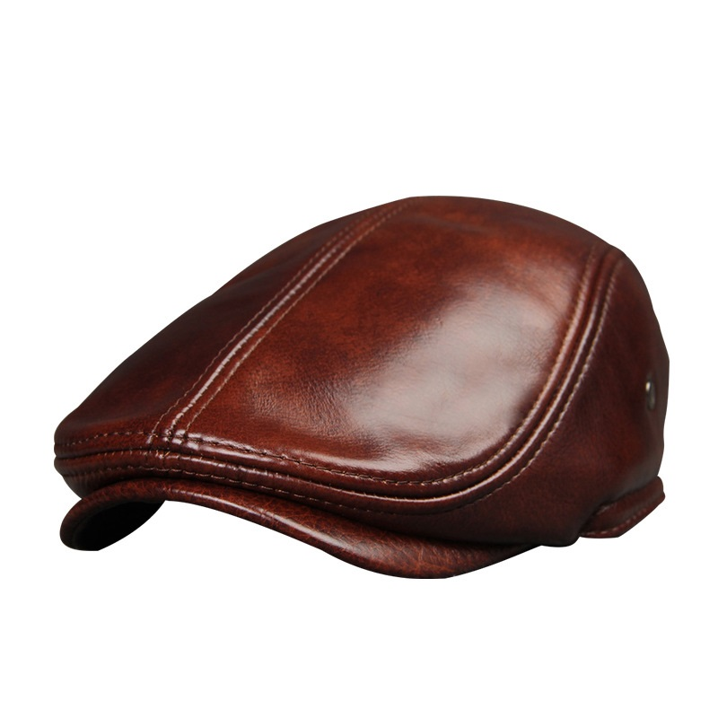 2017 New Arrival Genuine Cowhide Leather Hats Men's