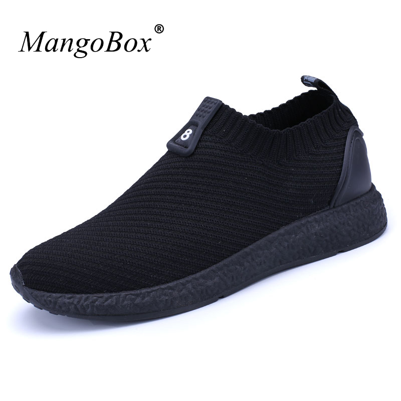Cheap Mans Sport Shoes Spring Summer Jogging Sneakers Black Mens Athletic Sneakers Slip-On Shoes Male