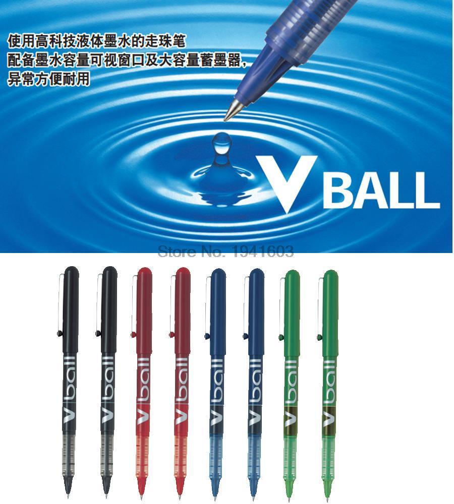 3 Pcs/lot Wholesale RollerBall Pen 0.5mm V BALL Japan PILOT Gel Pen Liquid Ink BL-VB5 Office And School Stationery
