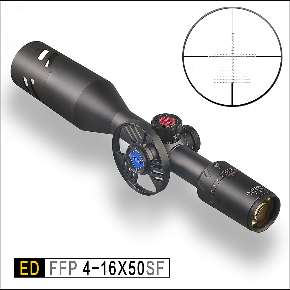Discovery Scope ED 4-16x50 SF Optical Sight Hunting Rifle Scope Collimator Sight Tactical  Luneta Para Rifle Collimator Sight