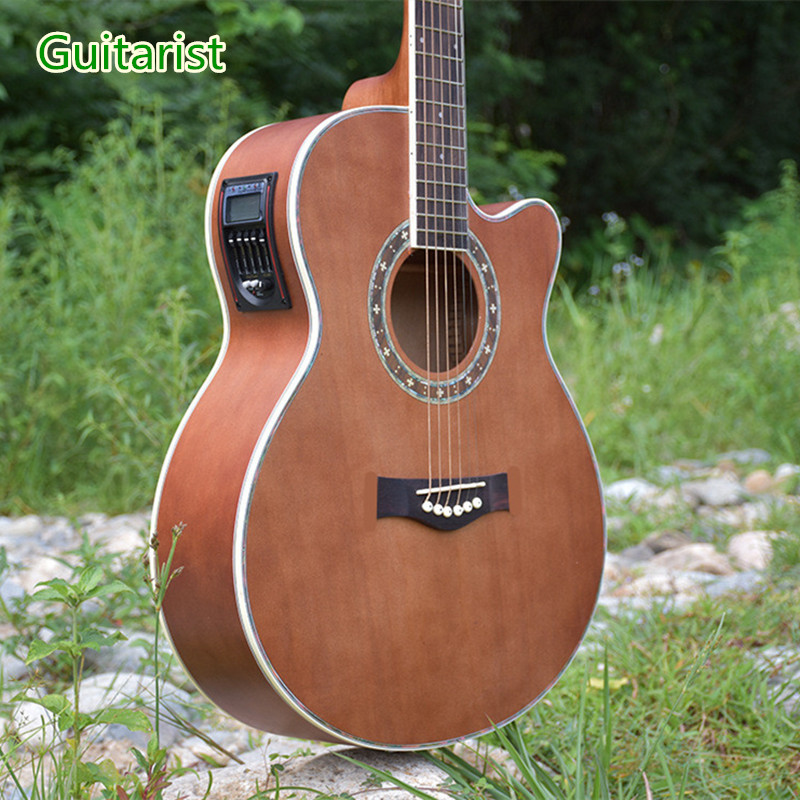 Guitarist 40-29 guitars 40 inch 5 EQ Electric Acoustic Guitar Rosewood Fingerboard guitarra with guitar pickup tuner strings yibuy maple 3 single coil pickup 1tone 2volumne knobs electric guitars diy builder kit with all accessories