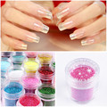 10g/Box Hot Sale Nail Art Glitter Powder Dust 3D Nail Art Decorations Nail Art Bottle Pigment Set DIY Tools 20 Colors
