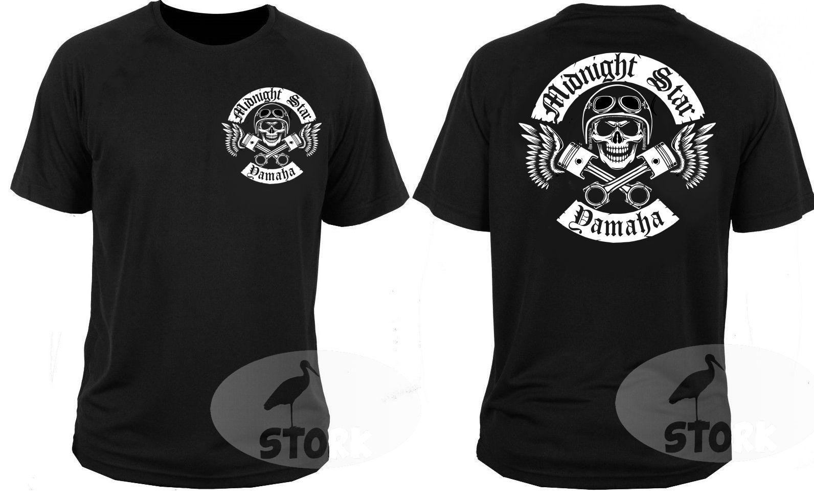 Newest 2017 Men's Fashion T Shirt T-shirt Midnight Star Cruiser Chopper Motorcycle Rockers Motorbike Cool T Shirts For Men