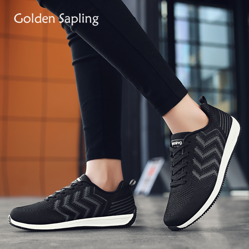 Golden Sapling Fitness Womens Sport Shoes Breathable Air Mesh Women s Sneakers Rubber Fabric Woman Tennis