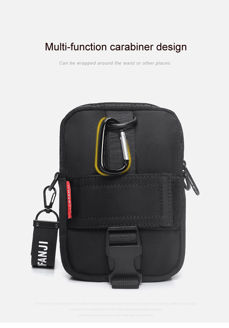 38123f2700 OUTWALK Hot Fashion Waist Pack Kanye Hip Hop Bags Streetwear Mini Disco  Crossbody Soulder Bag Men s Belt Phone Pouch Fanny Pack