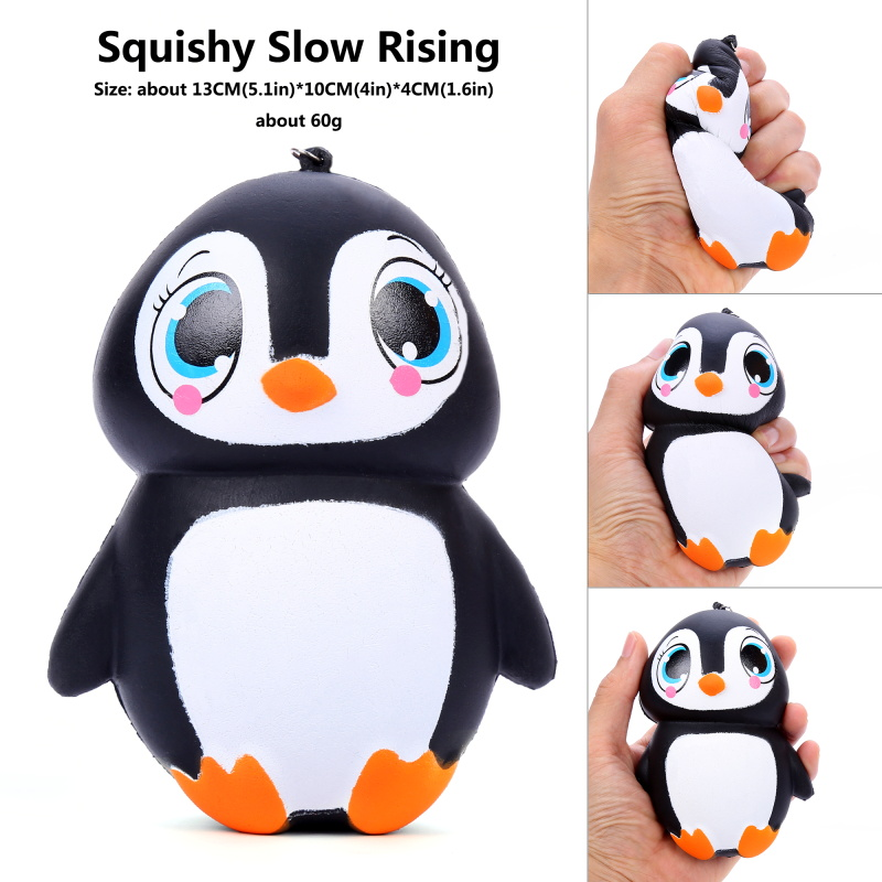 Cute Kawaii Squishy Animal Dolls Penguin Soft  Slow Rising Anti Stress Kids Adult Hot Toy Squeeze Relieve Stress Gift Doll House