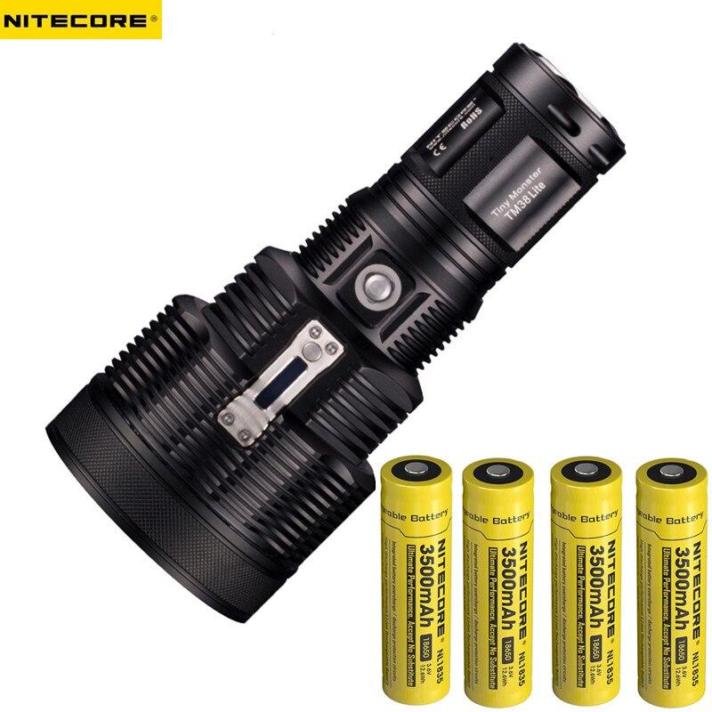 NEW Nitecore TM38 Lite Tiny Monster CREE XHP35 HI D41800 Lumen Long Throw Rechargeable LED Flashlight for Self Defense
