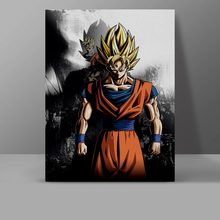 Super Saiyan Son Goku Wall Pictures Dragon Ball Z Canvas Painting Classic Japanese Anime Living Room Water Proof Cotton Poster