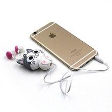 Cute Retractable Animal Earphone Kawaii Panda Cheese Cat MP3 MP4 Earbuds for MP4