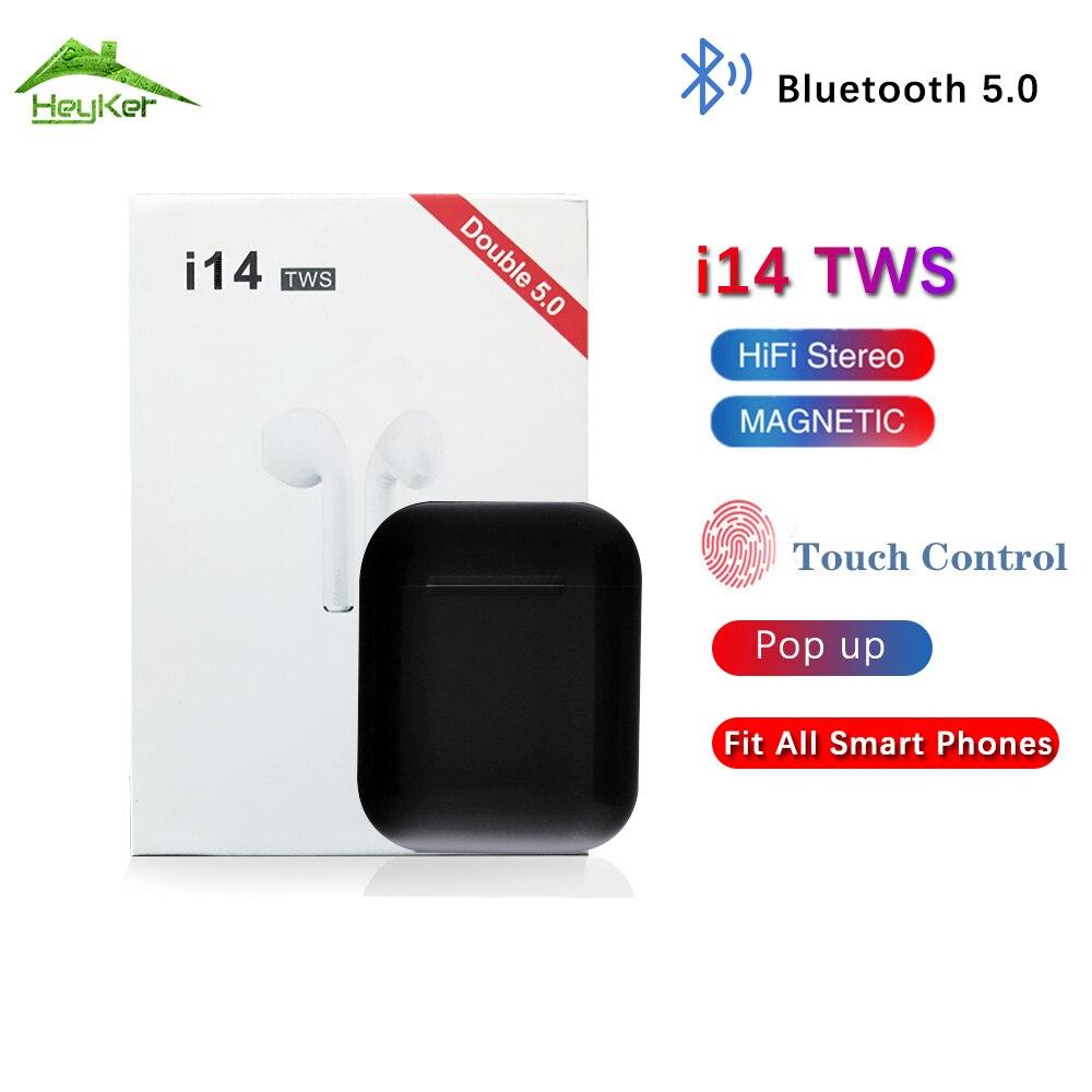 I14 i11 tws graves fone de ouvido estéreo fones de ouvido sem fio bluetooth esportes fones de ouvido para iPhone Xiaomi elari nanopods fone sem fio não w1