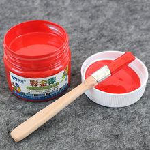 Red Water-based Paint ,Metallic lacquer , wood varnish, Furniture Color change, wall,door,crafts, Painting,100g per bottle