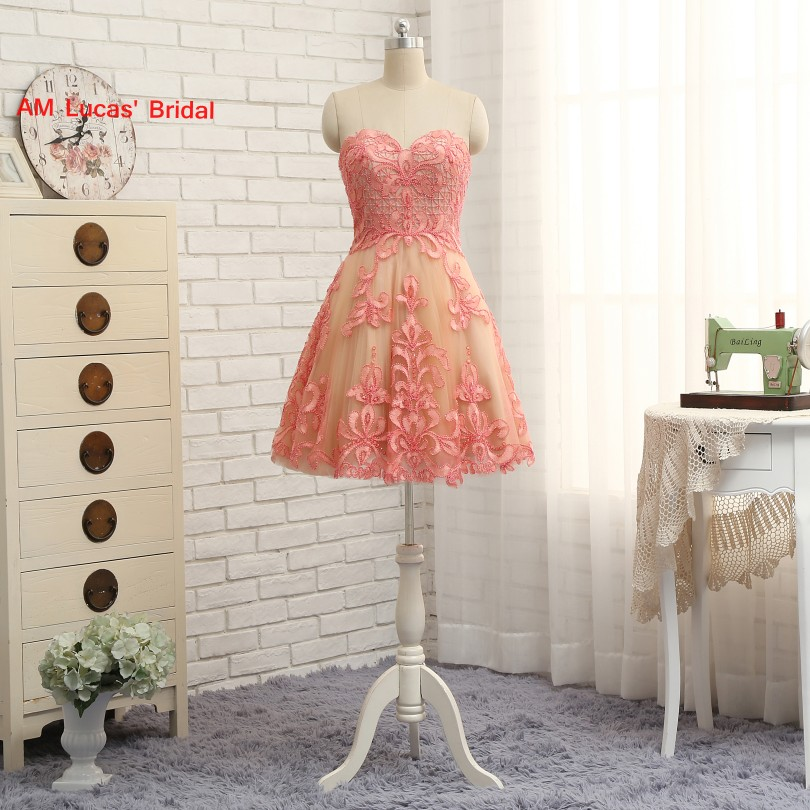 Elegant   Cocktail     Dress   Beaded Crystals Evening Party Gowns Short About Knee Appliques Prom   Dresses