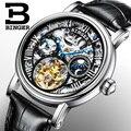 Швейцария БИНГЕР часы для мужчин люксовый бренд Tourbillon Relogio Masculino водостойкие Скелет механические часы B-1171-3