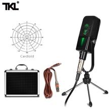 цена на TKL MC1 wire Microphone Condenser cardioid  Large Vibrating Diaphragm Computer Recording Capacitance Set for radio karaoke