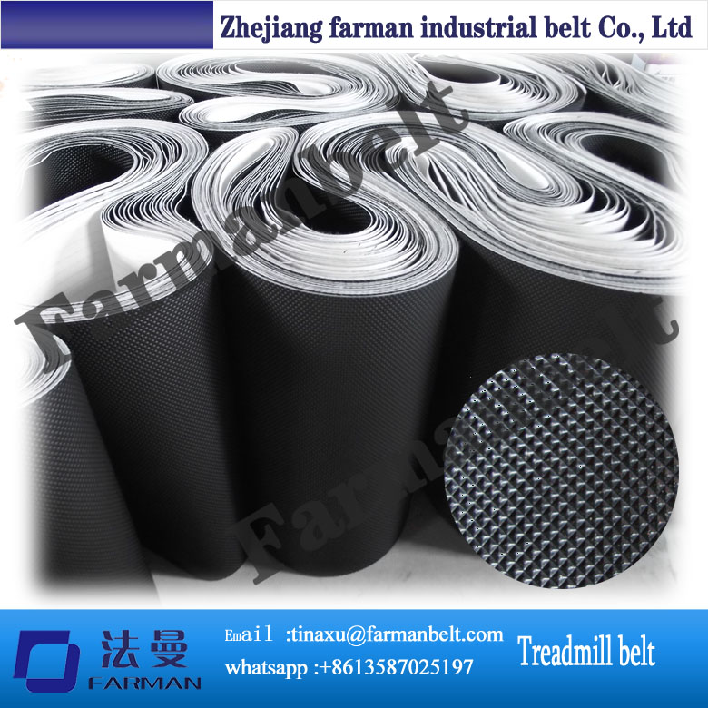 Black Pvc Treadmill Conveyor Belt Jogging Belts Running Belts
