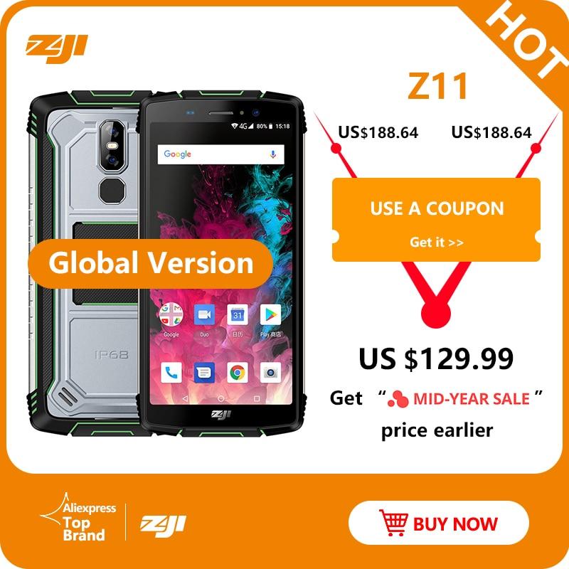 HOMTOM ZJI Z11 IP68 Waterproof Dustproof 10000mAh Smartphone 4GB 64GB Octa Core Cell Phone 5.99″ 18:9 Face ID 4G Mobile Phone