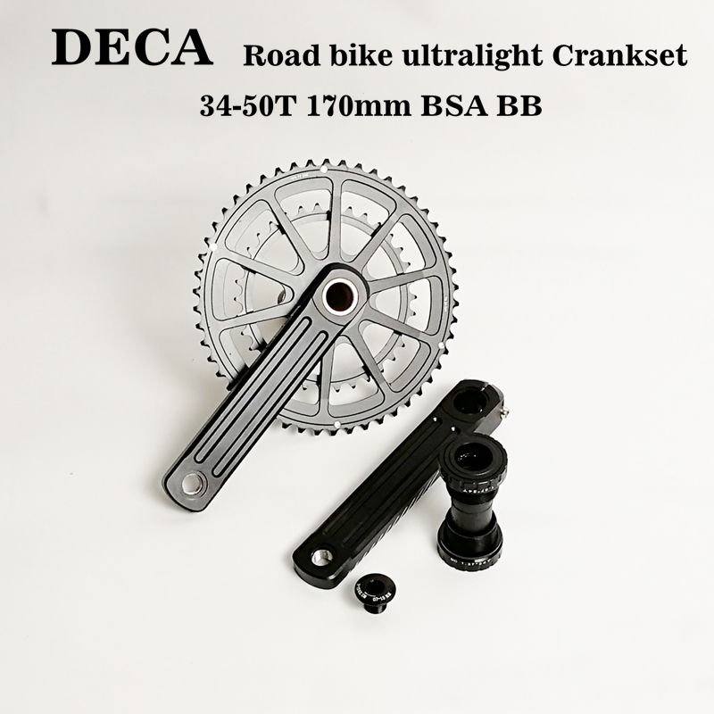 DECA 3D30 Road Bike Crankset 50/34T 170mm 110BCD 10/11s BB86 For Shimano 105 SRAM EagleDECA 3D30 Road Bike Crankset 50/34T 170mm 110BCD 10/11s BB86 For Shimano 105 SRAM Eagle