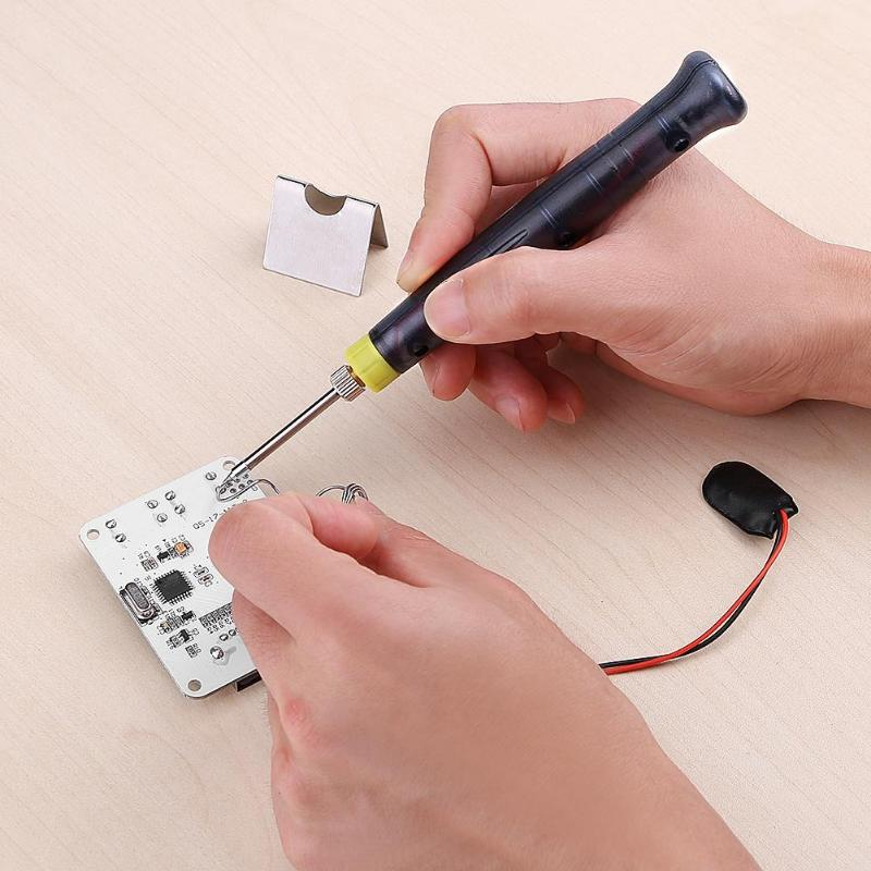Portable 5V 8W Electric Powered USB Soldering Iron Pen Tip Touch Switch Kit DIY Soldering Welding Heat Electric Tool