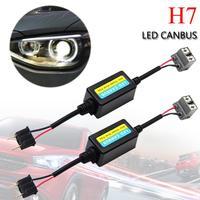 Высокое качество 2 шт. H7 автомобильные светодиодные HID декодер Canbus фары Противотуманные фары DRL безошибочную резистор предупреждение canceller