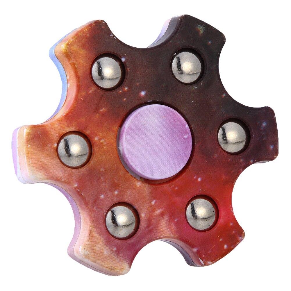 Звездное небо Цветной ABS детей игрушки EDC Шесть углу Spinner Для аутизма и СДВГ беспокойство стресса фокус Игрушечные лошадки подарок для детей
