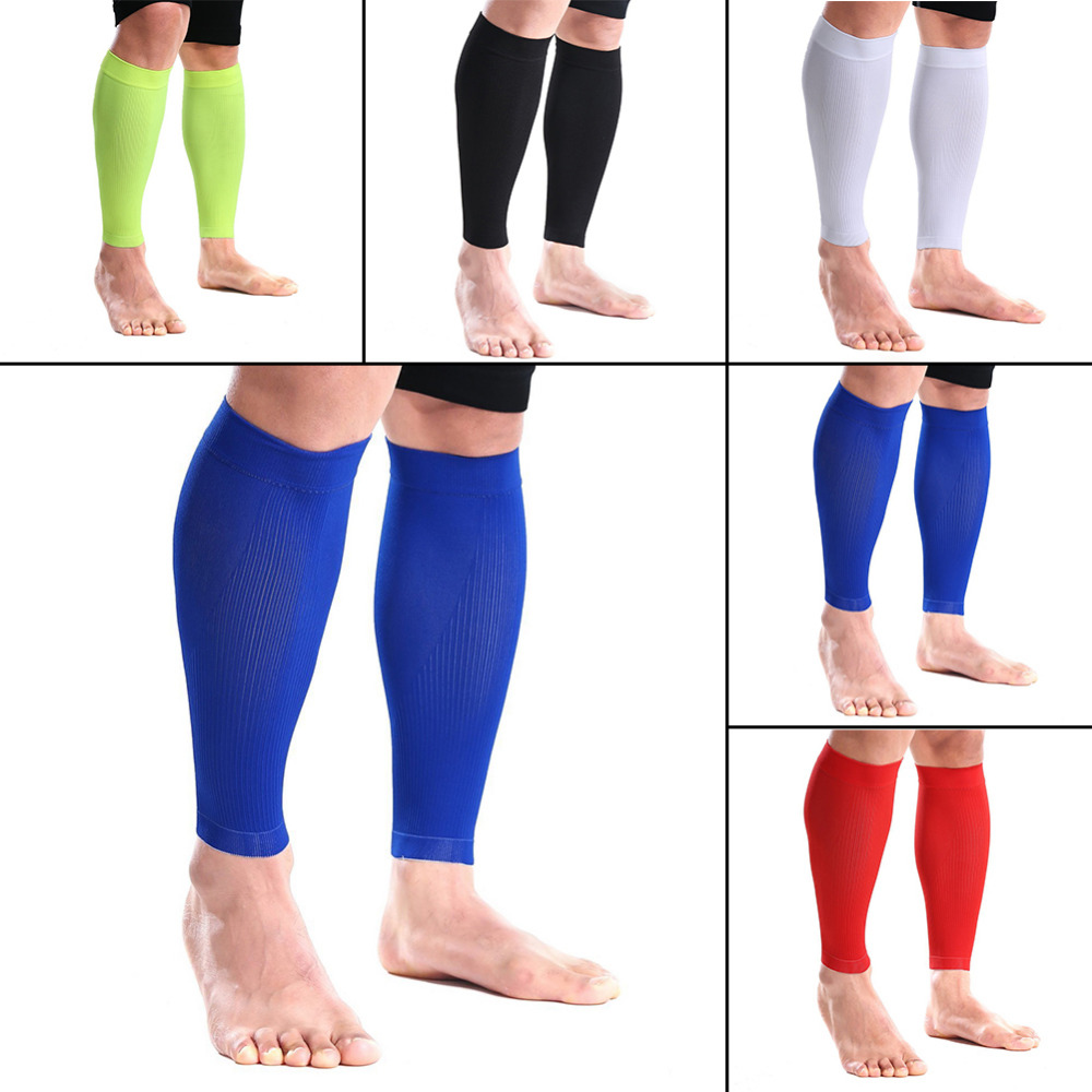 1 Pair 5 colors Leg Warmers Basketball Calf Compression Sleeves Fitness Gym Calf Leg Running Compression Sleeve Socks