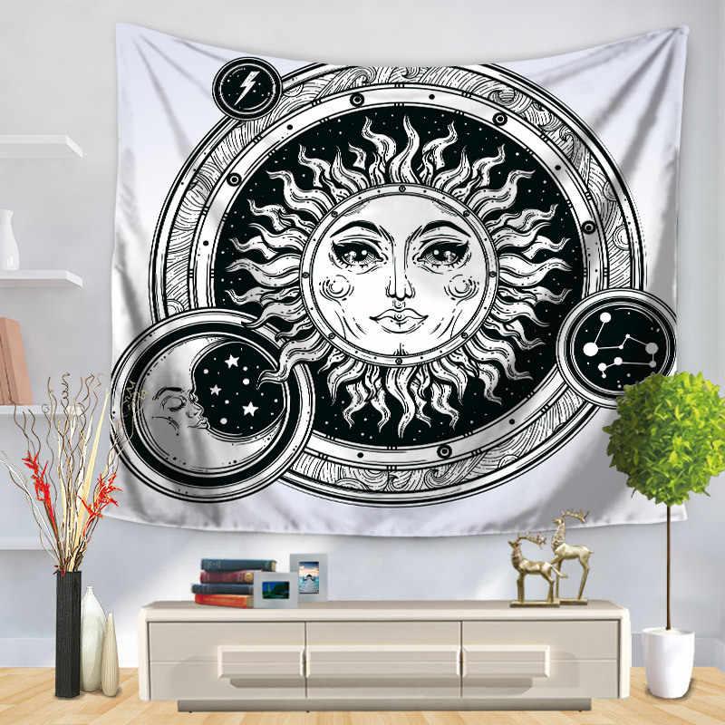 Home Da Parede Decorativo Pendurado Tapeçaria Tapete Retângulo Colcha Sol E Lua Padrão Pintura GT1226