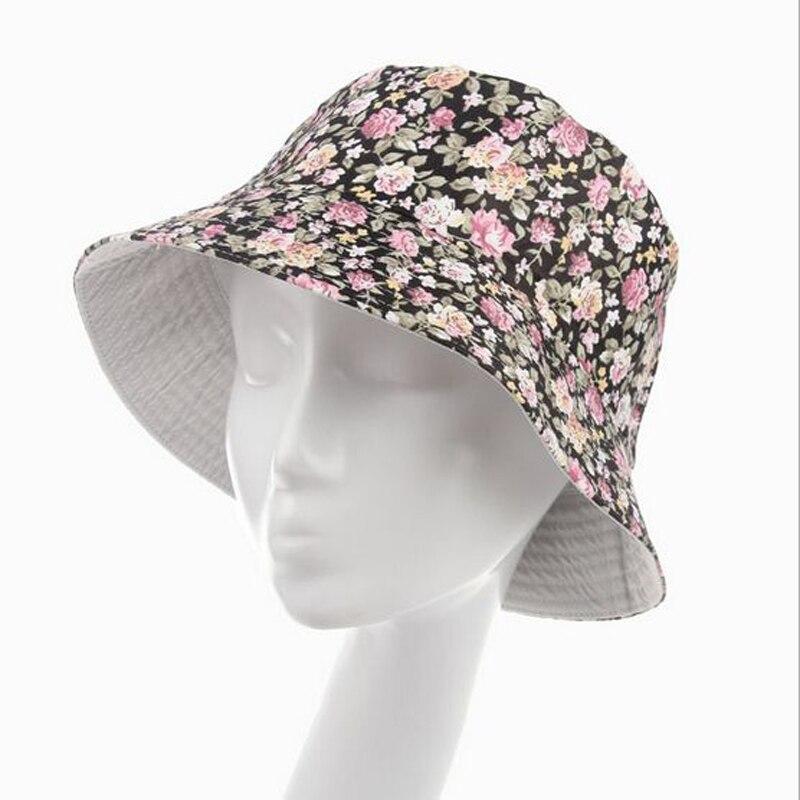 ▻Flores imprimir cute chapeu feminino sombrero del cubo mujeres ...