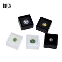 Wholesale Gemstnes Iamonds Boxes Loose Diamond Jewelry Display Case Holder Gem Show Storage Container Box Plastic