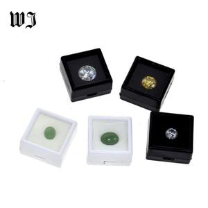 Image 1 - Wholesale Gemstones Diamonds Box Loose Diamond Jewelry Display Case Holder Gem Show Storage Container Box Plastic White & Black