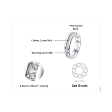 Eternity Band Sterling Silver Stackable Rings for Women