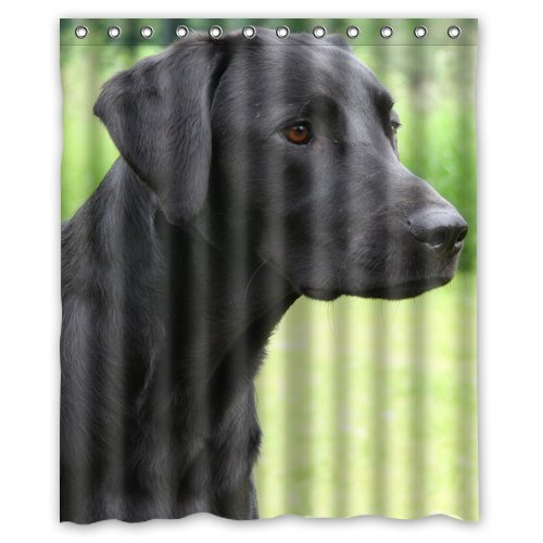 Labrador Retriever Black Lab Dog Shower Curtain Bathroom Polyester  Waterproof Fabric Bath Curtains In Shower Curtains From Home U0026 Garden On  Aliexpress.com ...