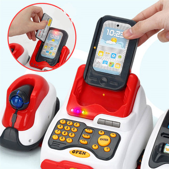 Pretend And Play Cash Register | Pretend Play Simulation Of A Classic Cash Register Toy Children's Home Supermarket Cashier Play House Toy Children's Toys