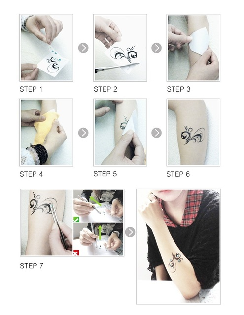 Us 4722 Itemship Realistic Swan Soulmate Lovers Tattoos Personality Crystal Female Waterproof Tattoo Sticker Temporary Tattoos في Itemship
