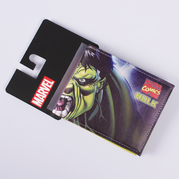 DC Marvel Comics Wallets Men Creative Gift Hulk Anime Cartoon Bags Dollar Price Purse PU Leather Wallet carteira masculina dc movie hero bat man anime men wallets dollar price short feminino coin purse money photo balsos card holder for boy girl gift