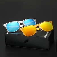 51-25-140 New aluminum and magnesium men and women sunglasses bright color coated polarizer driver driving mirror classic