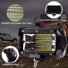 2PCS 5″ 72w LED worklight bar spot beams Driving lights for offroad auto Toyota 4WD 4×4 UAZ motorcycle ramp 12V 24V car fog lamp