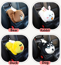 Creative Car Armrest Tissue Box Multi-use Hanging Type Seat Back Shade Block Cartoon Cute Interior Accessories Washable