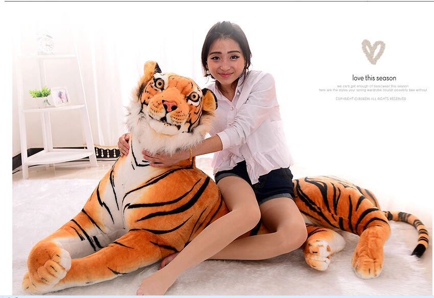 super huge lovely simulaiton tiger toy new yellow tiger doll huge plush creative tiger doll gift about 170cm 0844 the huge lovely hippo toy plush doll cartoon hippo doll gift toy about 160cm pink