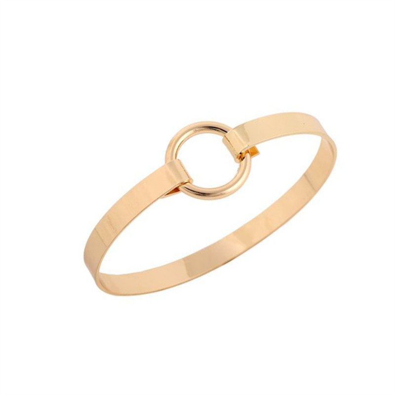 Simple small circle design bracelet female character ornaments jewelry exaggerated simple bracelet accessories