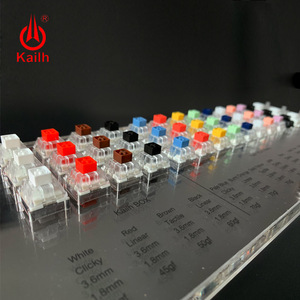 Image 1 - Kailh BOX 45 Keys Mechanical Keyboard Switches Tester Translucent Clear Keycaps Kit For Kailh MX Sampler Caps Testing Tool