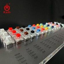 Kailh kutusu 45 tuşları mekanik klavye anahtarları Tester saydam temizle Keycaps kiti Kailh MX örnekleyici kapaklar test aracı