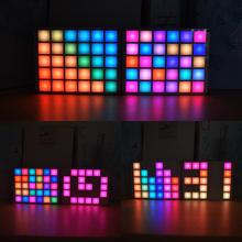 DIY Многофункциональный светодиодный крутой музыкальный спектр RGB цветная палитра часы набор для самостоятельной сборки светодиодный комплект
