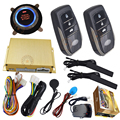 pke smart car alarm system hopping code smart key low power warning enable&disable pke remote,push start  stop engine