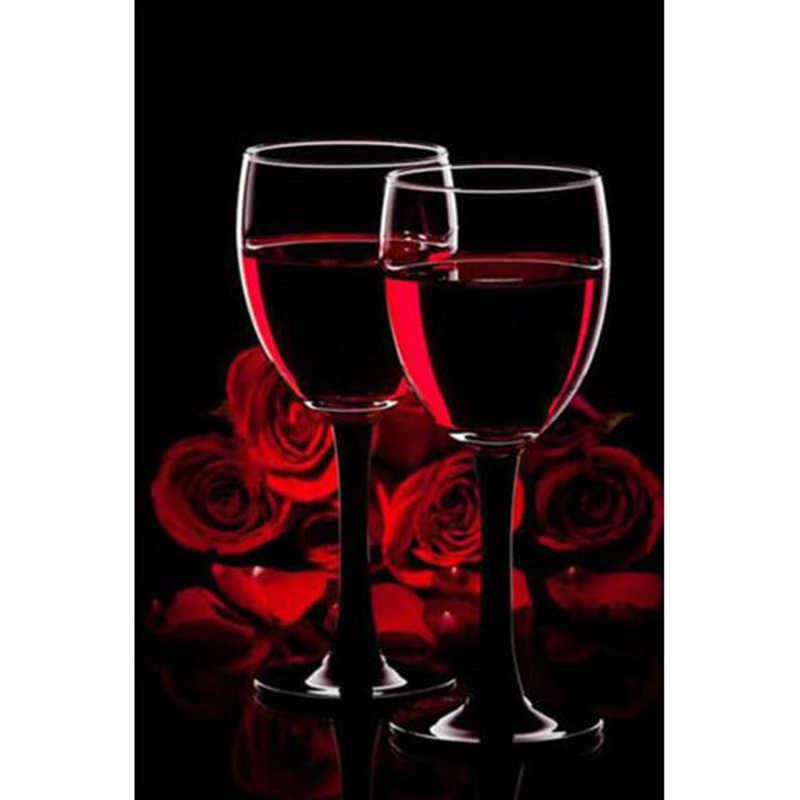 Открытки бокалы вино, днем рождения