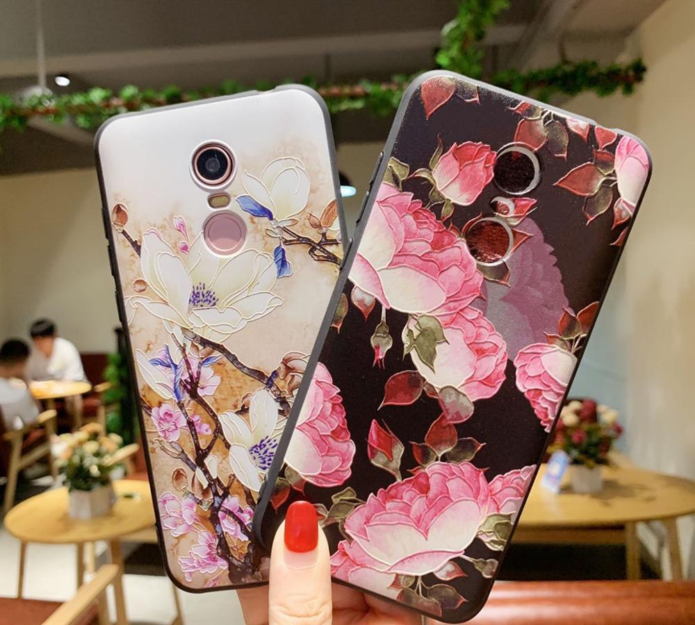 Xiaomi Redmi 5 Plus Case Silicone 3d Relief Soft Tpu Case Painted Serise Phone Case For Xiaomi Redmi 5 Plus Cover Case