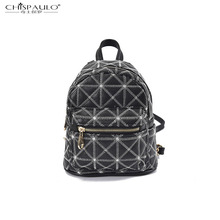 Новый Япония и Южная Корея моды простой автомобиль шва геометрическая плеча сумка ретро досуг двойной плечо мини-небольшой рюкзак
